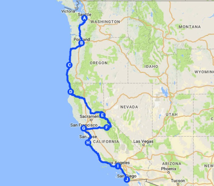 Your American Road Trip Leg 1