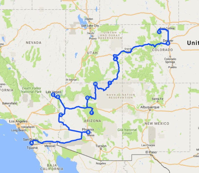 Your American Road Trip Leg 2