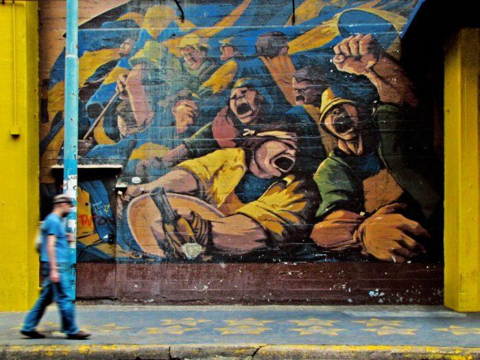 Street art in La Boca, Buenos Aires, Argentina