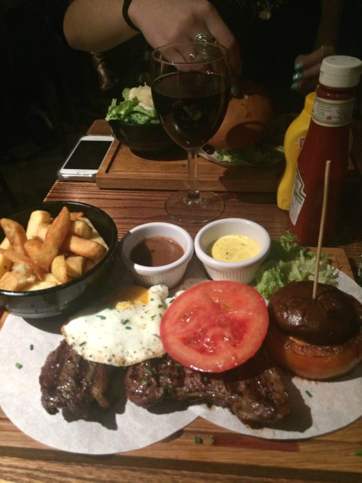 Steak and Eggs, Dirty Bones