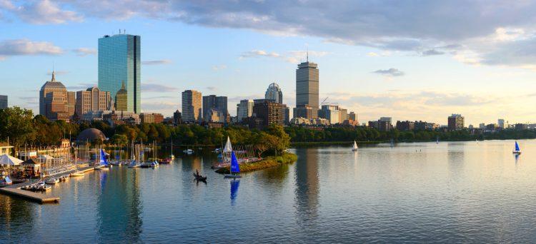 Boston's skyline from skyline from Longfellow Bridge
