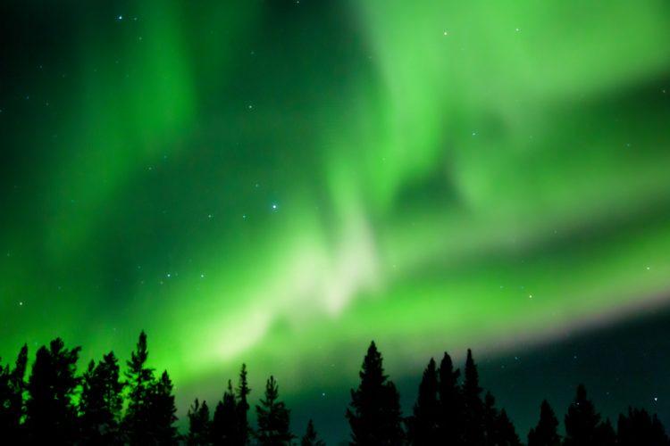 Aurora Borealis near Khibiny Mountains, Russia