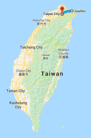 Jiufen Taiwan Map