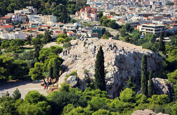 Areopagus Hill in Athens.