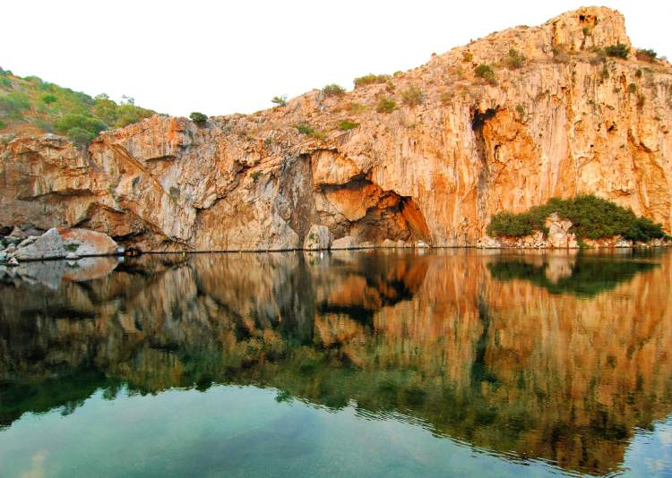Visiting Lake Vouliagmeni may be the perfect way to end 3 days in Athens!