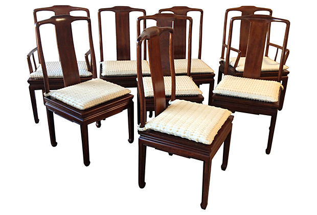 henredon asian dining chairs folding chair size inspired s 8 modern vintage mix