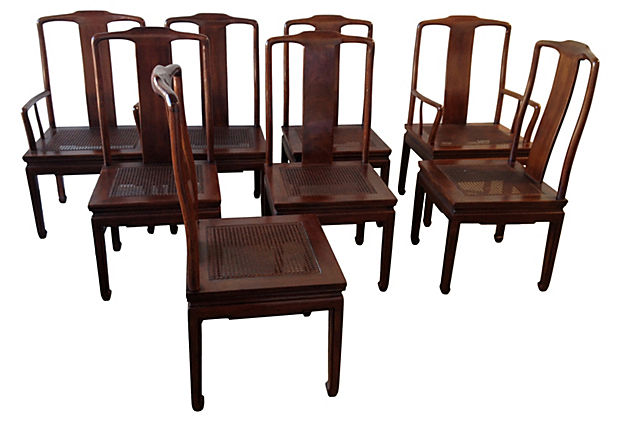 henredon asian dining chairs chair felt pads inspired s 8 modern vintage mix