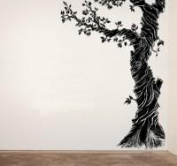Whimsical corner tree nursery vinyl wall decal | ModernVinyls