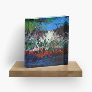 Burning Sea_ Acrylic Block by marlenalee (3)
