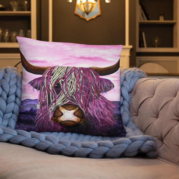 Highland Cow Cushion 2