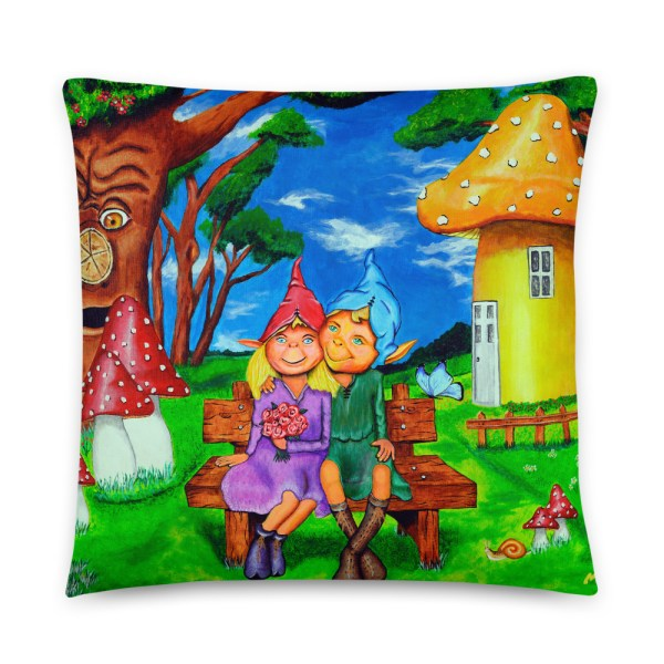 Elves in magical forest Cushion (1)