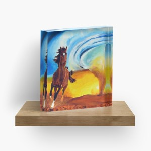 Horse and Tornado_ Acrylic Block by mikeylee (3)