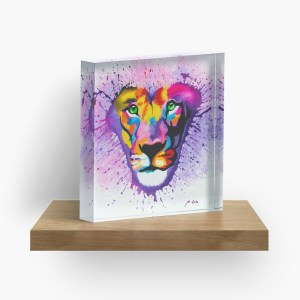 Lion Heart_ Acrylic Block by mikeylee (3)