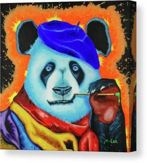 artist-panda-mikey-lee-canvas-print