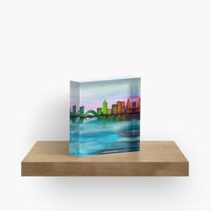 City of Dawn_ Acrylic Block by marlenalee (1)