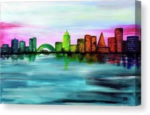 city-of-dawn-marlena-lee-canvas-print