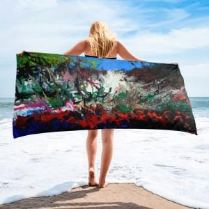 Burning-Sea-Towel-Modern-Wall-Art (1)