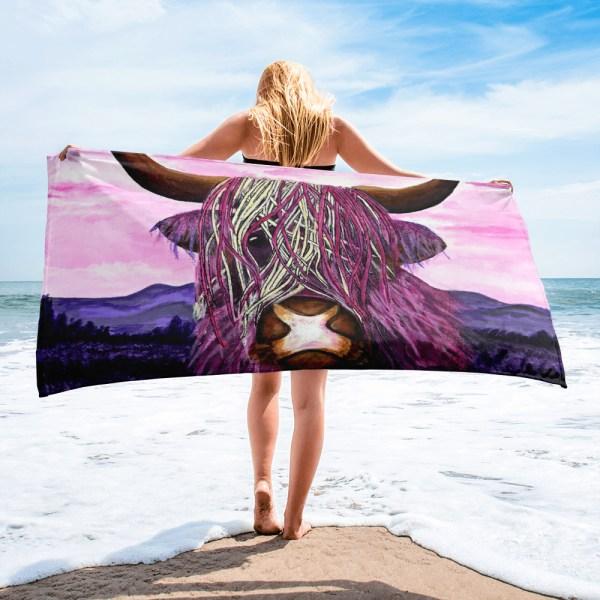 Highland-Cow-Towel-Modern-Wall-Art (1)