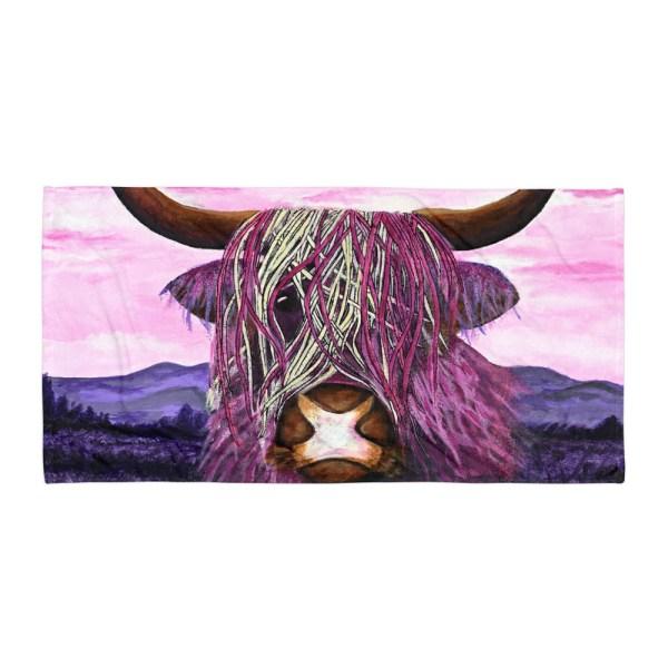 Highland-Cow-Towel-Modern-Wall-Art (2)