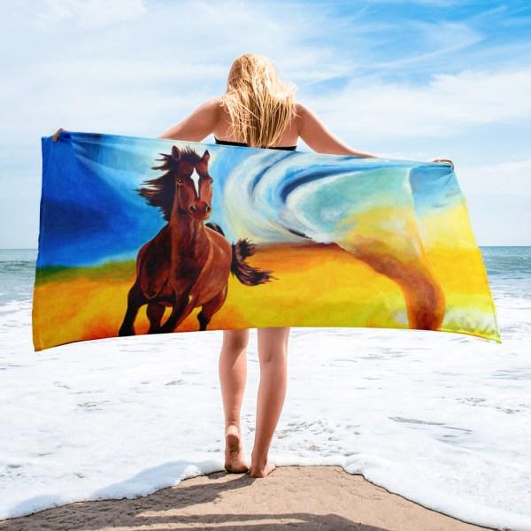 Horse-and-Tornado-Towel-Modern-Wall-Art (1)