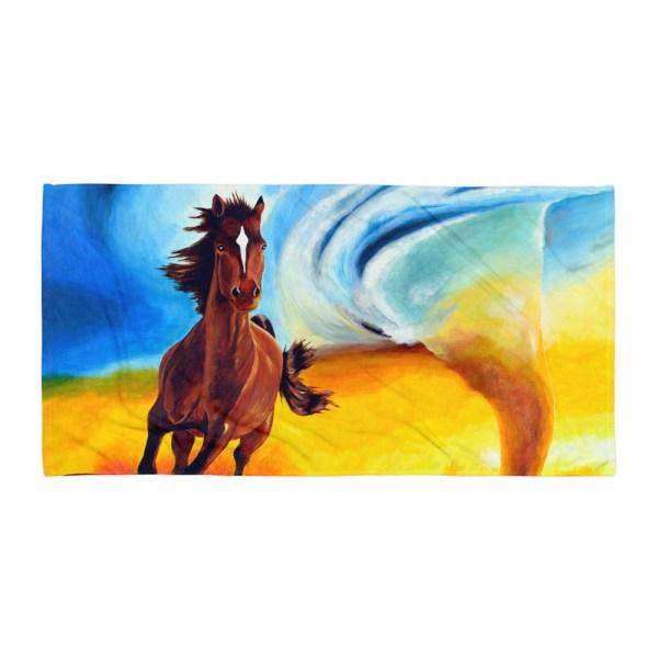 Horse-and-Tornado-Towel-Modern-Wall-Art (2)