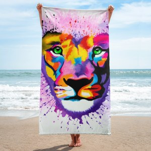 Lion-Heart-Towel-Modern-Wall-Art (1)