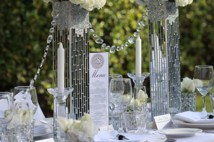 Diamond Theme Wedding Decorations