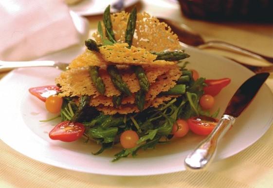 5 Asparagus Tuille Salad