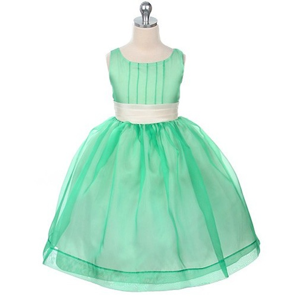 MintGreenFlowerGirlDress