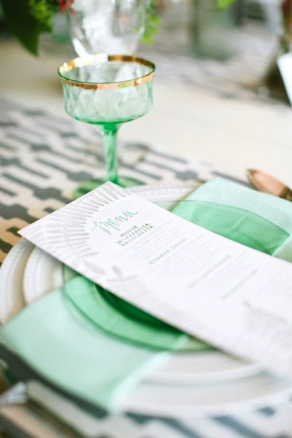 MintGreenPlaceSetting