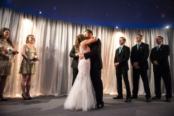 gold planetarium wedding