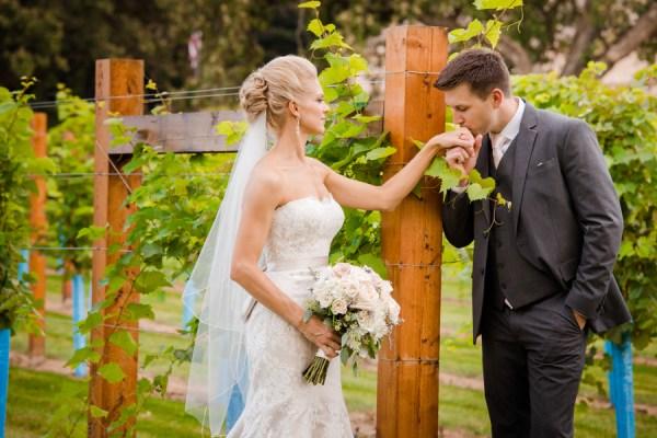 white winery wedding