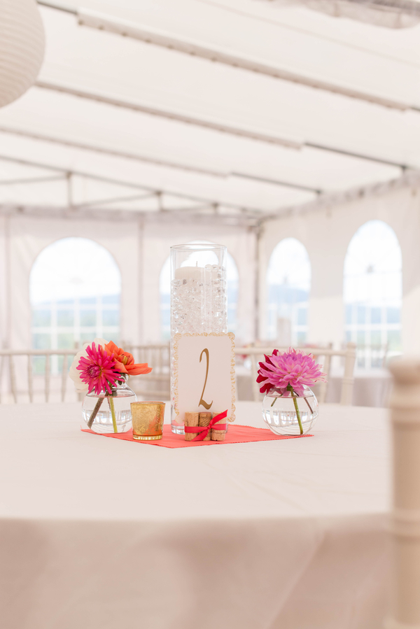 colorful outdoor wedding