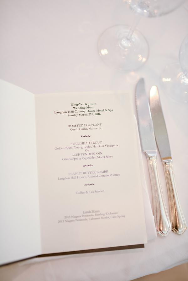 classic luncheon wedding