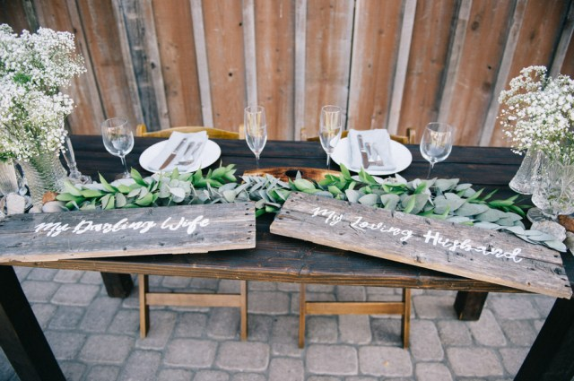 rustic backyard wedding