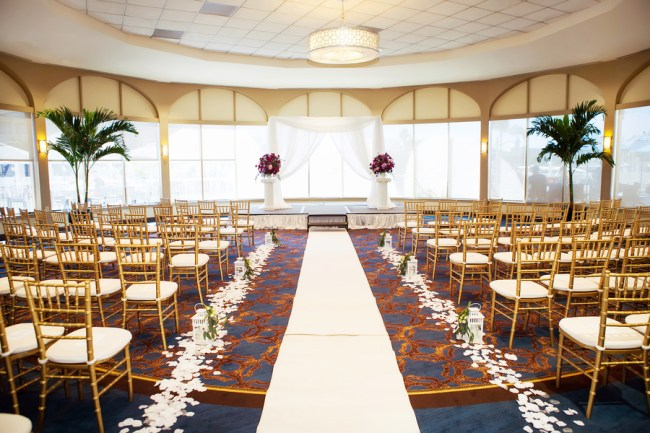 gold hotel wedding