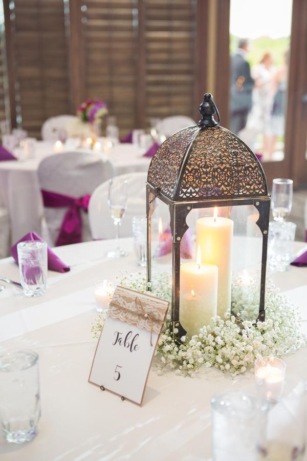 purple summer wedding