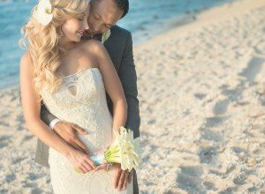 elegant white Hawaiian wedding
