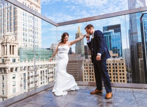fall city wedding