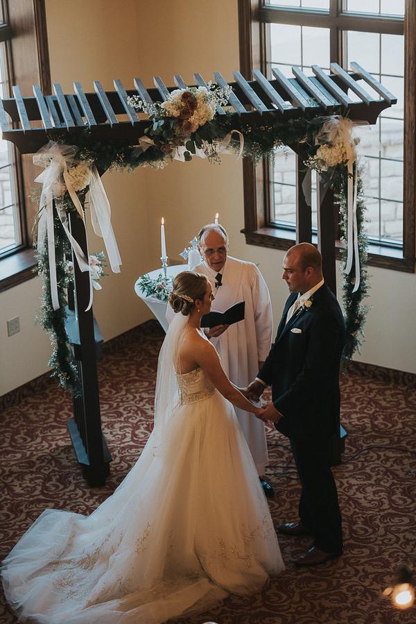 glamorous spring wedding