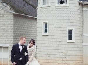 classic white winter wedding