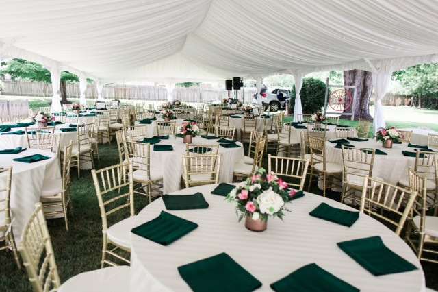 green summer wedding