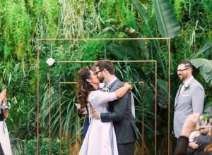 modern geometric wedding
