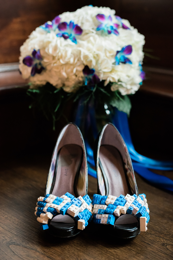 blue Lego wedding