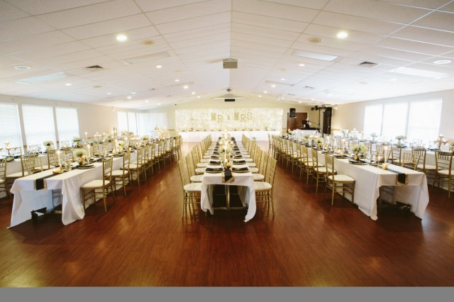 navy and gold Michigan wedding