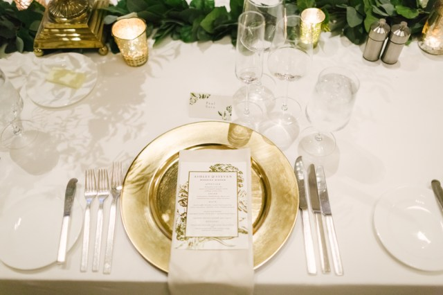 gold tropical wedding