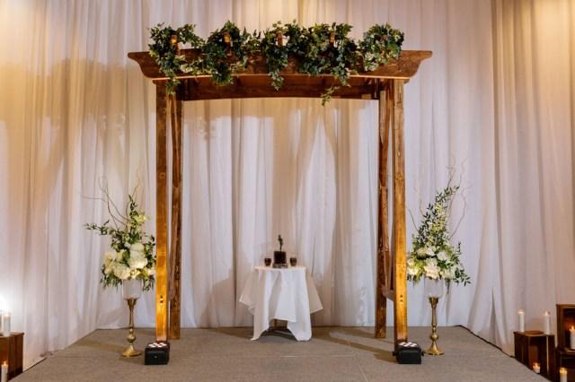 gold rustic winter wedding