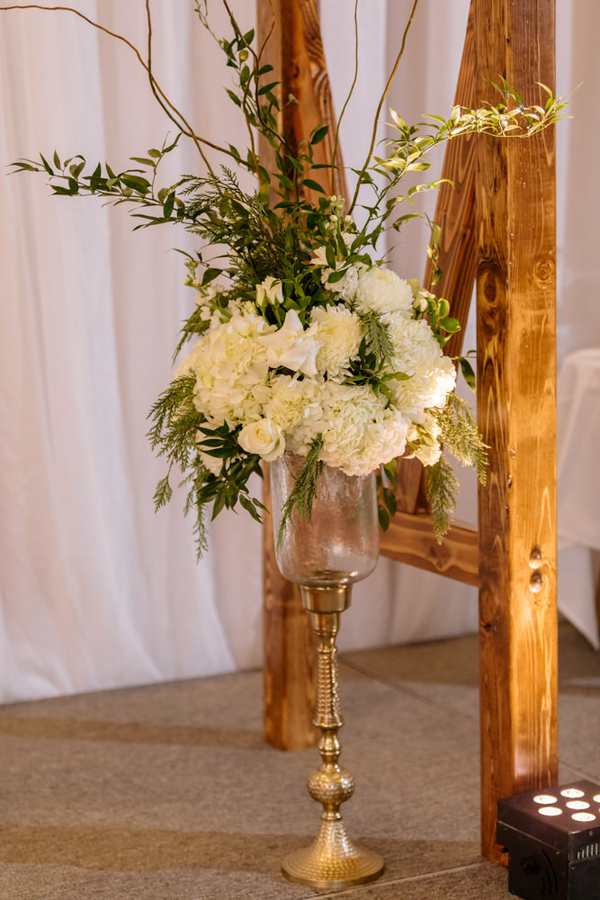gold rustic winter wedding