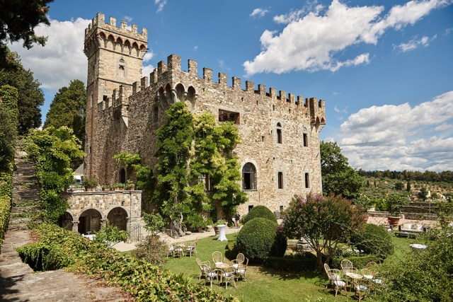Italian castle wedding