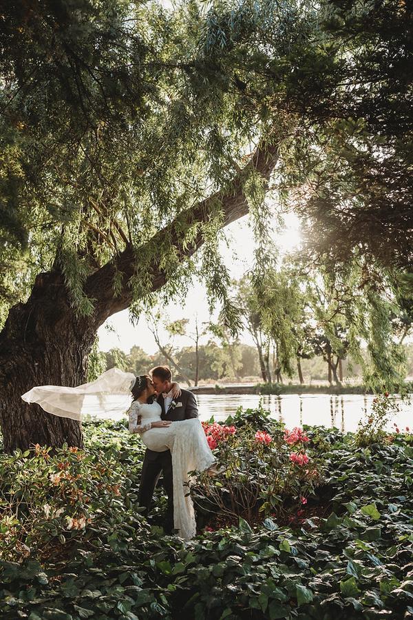 Monica Stephen S Chic Vintage Garden Wedding Modern Weddings